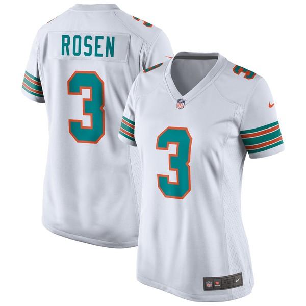 ナイキ レディース ユニフォーム トップス Josh Rosen Miami Dolphins Nike Women's Game Jersey Aqua