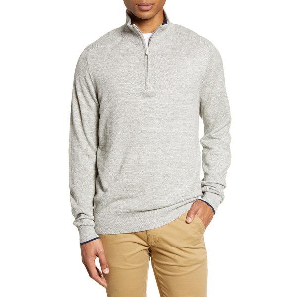 ロッドアンドガン メンズ ブランド品 アウター ニットセーター POLAR GREY Quarter 豪華な Zip 全商品無料サイズ交換 Harley Cotton Sweater