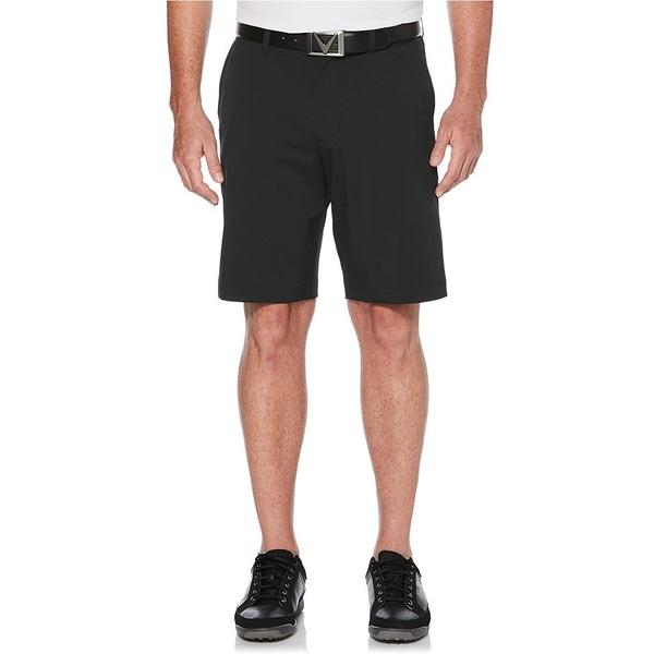 キャラウェイ メンズ ハーフ&ショーツ ボトムス Classic Flat-Front 10#double; Inseam Golf Shorts Caviar