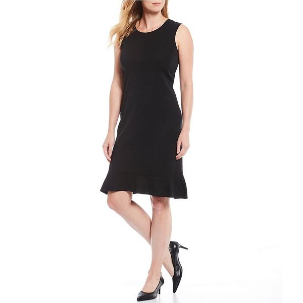 ミンウォン Hem レディース ワンピース トップス Ruffle Hem Sleeveless トップス Sheath Dress Dress Black, 久瀬村:6abe09b9 --- officewill.xsrv.jp