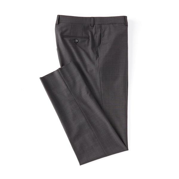 クレミュ メンズ カジュアルパンツ ボトムス Modern Fit Flat Front Solid Dress Pants Charcoal