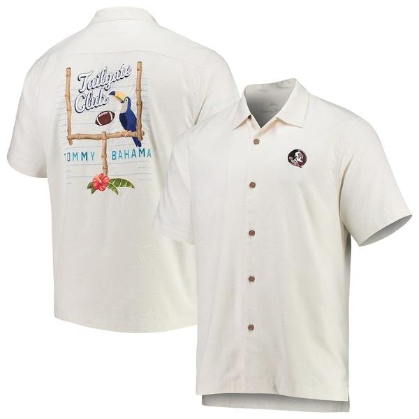 トッミーバハマ メンズ シャツ トップス Florida State Seminoles Tommy Bahama Tailgate Club Button-Up Shirt White