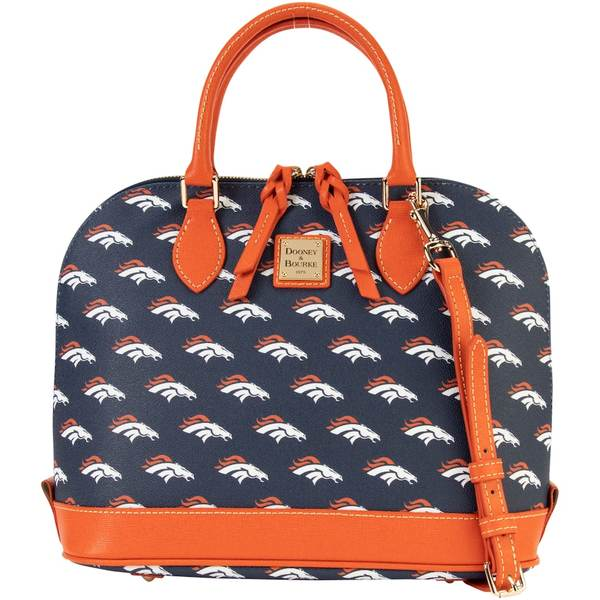 ドーネイアンドバーク レディース バックパック・リュックサック バッグ Denver Broncos Dooney & Bourke Women's Saffiano Signature Zip Zip Satchel Purse Unknown