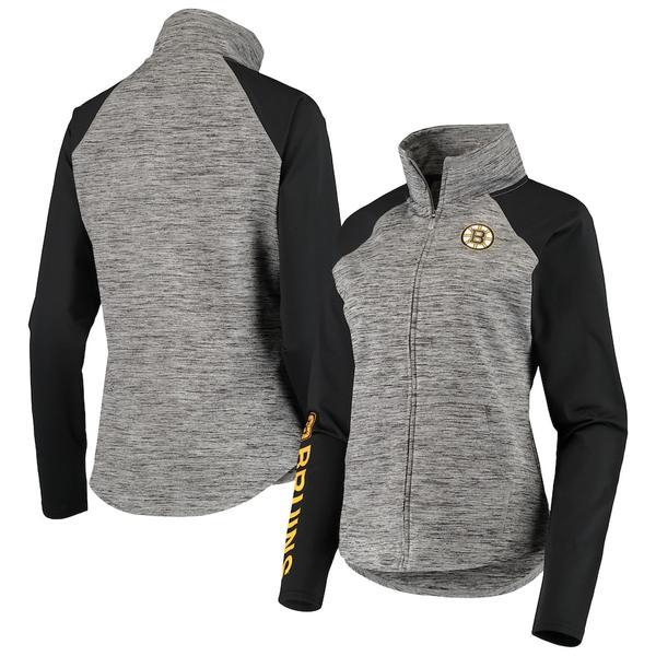 カールバンクス レディース ジャケット&ブルゾン アウター Boston Bruins G-III 4Her by Carl Banks Women's Energize Full-Zip Jacket Gray/Black