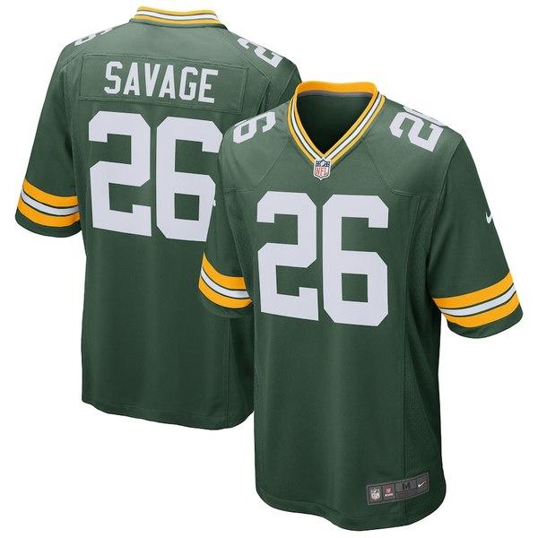 ナイキ メンズ シャツ トップス Darnell Savage Green Bay Packers Nike Game Jersey Green