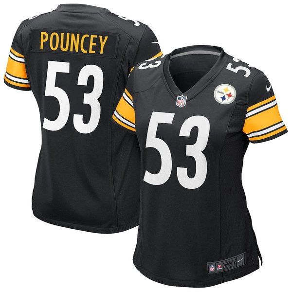 ナイキ レディース シャツ トップス Maurkice Pouncey Pittsburgh Steelers Nike Women's Game Jersey Black