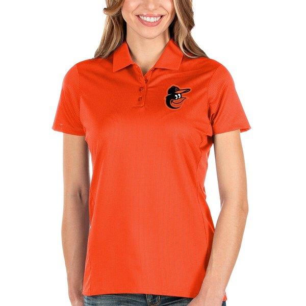 アンティグア レディース ポロシャツ トップス Baltimore Orioles Antigua Women's Balance Polo Orange