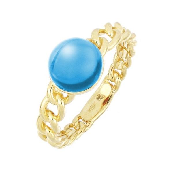 ボニー レヴィ レディース 新作 人気 アクセサリー リング 18KY 全商品無料サイズ交換 Topaz Ring Gold 18K Link Blue 実物 Yellow