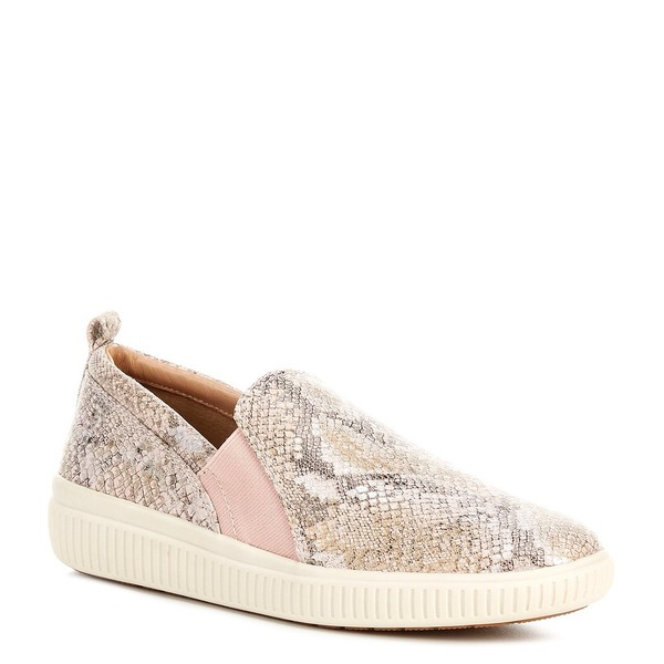 ナーチャー レディース スニーカー シューズ Brayline Snake Print Suede Slip On Sneakers Pink 119