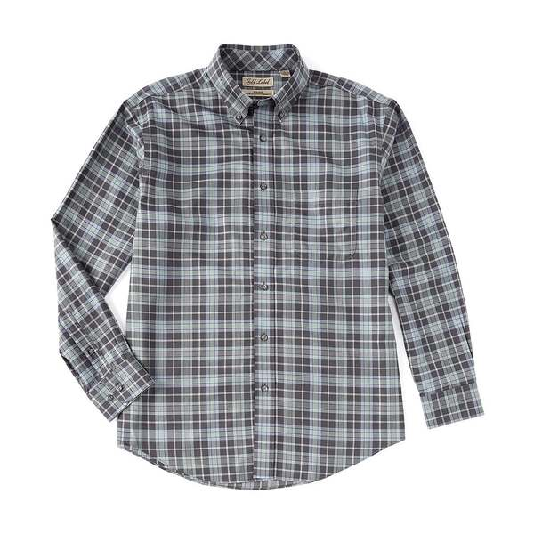 ランドツリーアンドヨーク メンズ シャツ トップス Gold Label Roundtree & Yorke Perfect Performance Long-Sleeve Heather Plaid Non-Iron Sportshirt Green Heather
