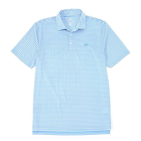 サウザーンタイド メンズ ポロシャツ トップス Bimini Stripe Performance Stretch Short-Sleeve Polo Shirt Hurricane Blue