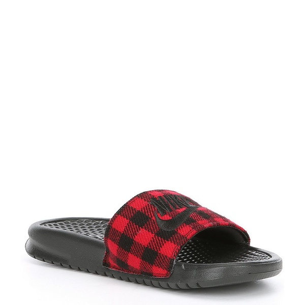 ナイキ レディース サンダル シューズ Benassi JDI SE TXT Slide Black/University Red/Black