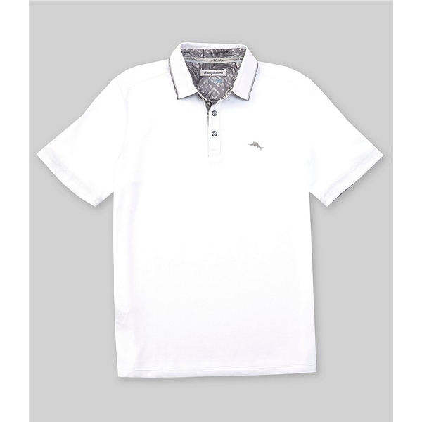 トッミーバハマ メンズ ポロシャツ トップス Limited Edition Fore O'Clock Short-Sleeve Polo Shirt Bright White