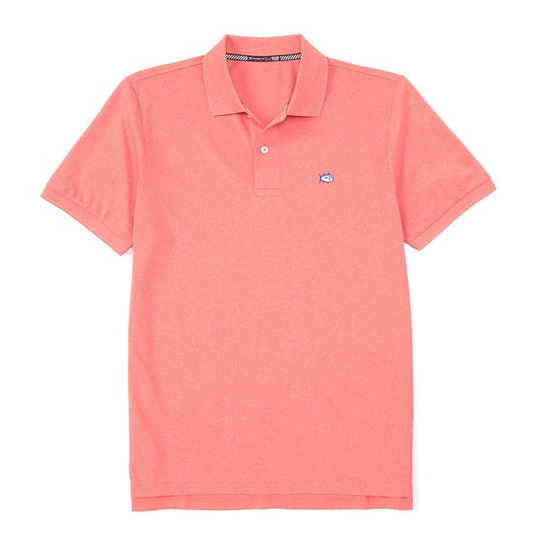 サウザーンタイド メンズ ポロシャツ トップス Heather SkipJack Performance Pique Short-Sleeve Polo Shirt Heather Sunkist