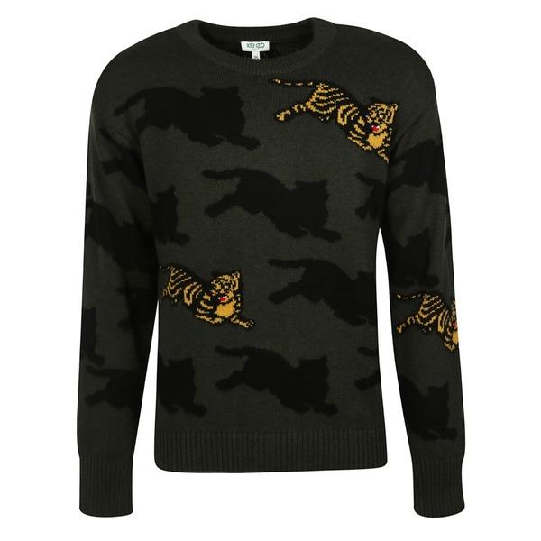 ケンゾー メンズ ニット&セーター アウター Kenzo Allover Jumping Tiger Sweater -