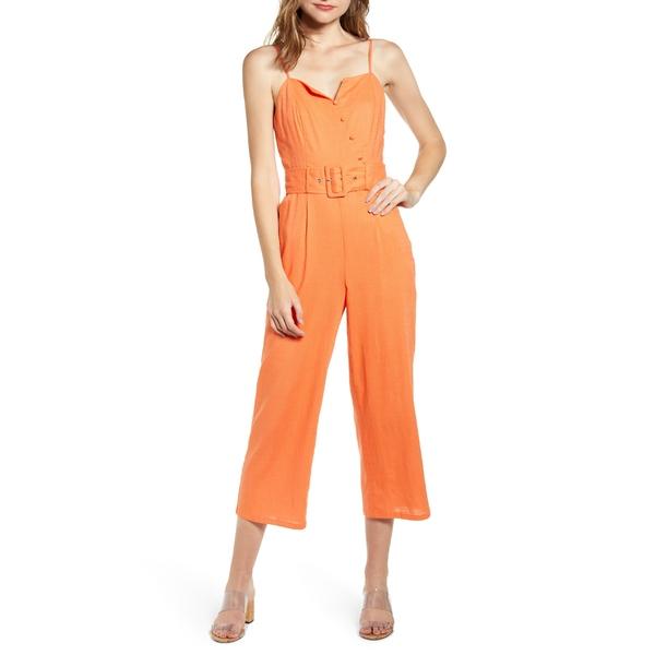 ムーンリバー レディース ワンピース トップス MOON RIVER Belted Crop Jumpsuit Carrot