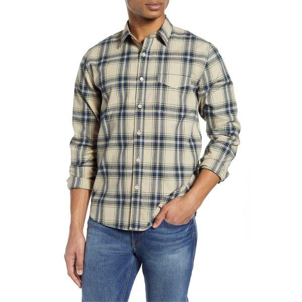 YUNY Mens Button-Down-Shirts Business Corduroy Slim Fitting Shirt White S