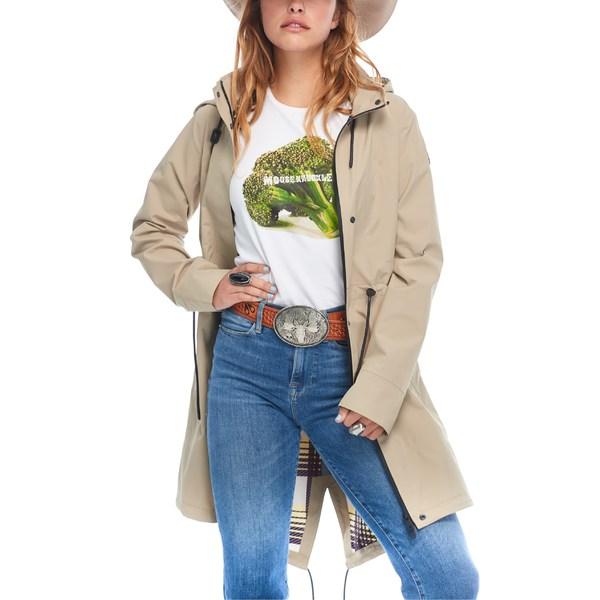ムースナックルズ レディース コート アウター Moose Knuckles Sunfischer Waterproof Hooded Raincoat Barrel/ Retro Plaid