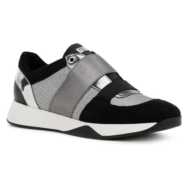 ジェオックス レディース スニーカー シューズ Geox Suzzie Sneaker (Women) Light Grey/ Black Fabric