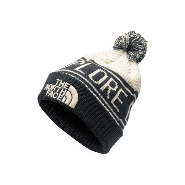 ノースフェイス レディース 帽子 アクセサリー The North Face Retro Pom Beanie Vintage White/ Asphalt Grey