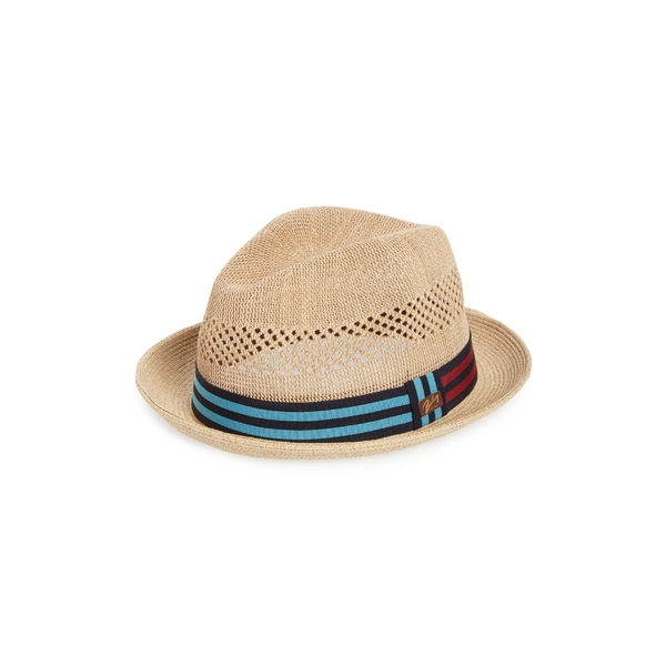 ベイレイ メンズ 帽子 アクセサリー Bailey 'Berle' Fedora Natural