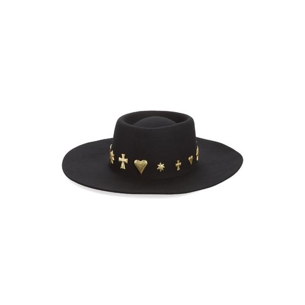 ラックオブカラー レディース 帽子 アクセサリー Lack of Color Celestial Wool Boater Black