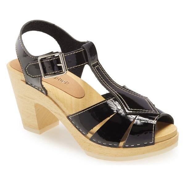ジェフリー キャンベル レディース サンダル シューズ Jeffrey Campbell Donostia Clog Sandal (Women) Black Crinkle Patent