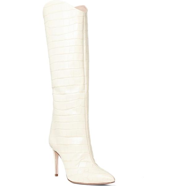 シュッツ レディース ブーツ&レインブーツ シューズ Schutz Maryana Pointy Toe Boot (Women) Eggshell Leather