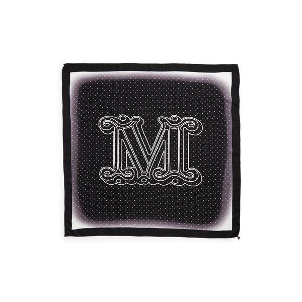 マックスマーラ レディース マフラー・ストール・スカーフ アクセサリー Max Mara Aloejs2 Monogram Silk Scarf Black