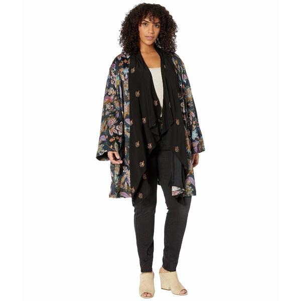 ジョニーワズ レディース ニット&セーター アウター Plus Size Silk Drape Cardigan Multi