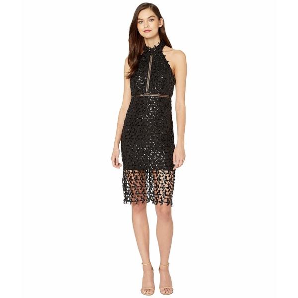 バードット レディース ワンピース トップス Sequin Leaf Dress Black