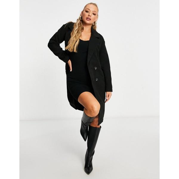 スレッドベア レディース アウター 激安 コート Black black coat in 全商品無料サイズ交換 Threadbare 激安 激安特価 送料無料