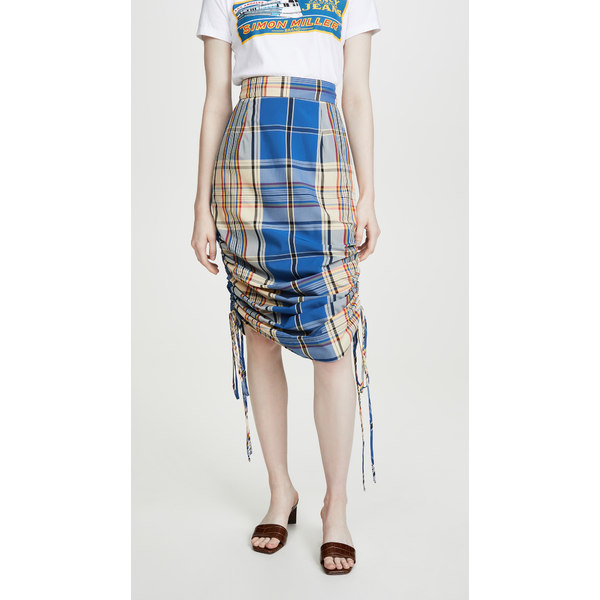 サイモンミラー レディース スカート ボトムス Slo Skirt Blue Plaid