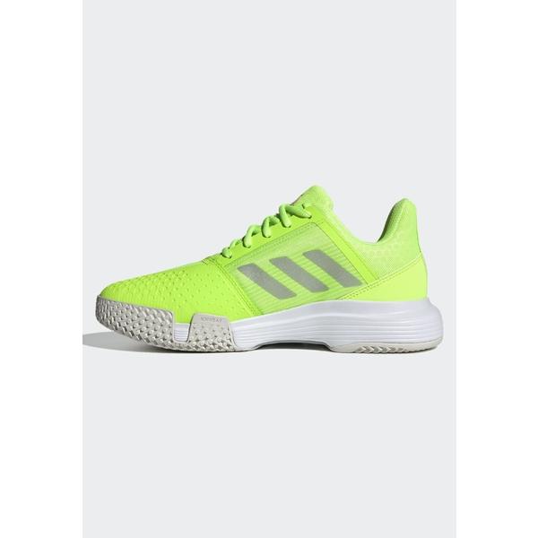 アディダス レディース スポーツ テニス green 美品 全商品無料サイズ交換 - Multicourt shoes COURTJAM BOUNCE 年間定番 tennis