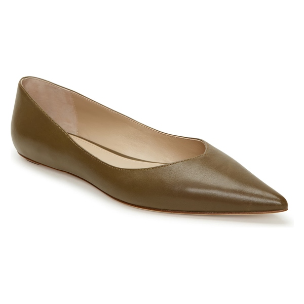 アイグナー レディース サンダル シューズ Etienne Aigner Annette Skimmer Flat (Women) Military Leather