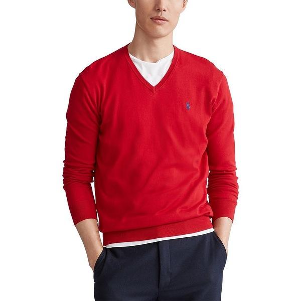 ラルフローレン メンズ ニット&セーター アウター Solid V-Neck Sweater Park Avenue Red