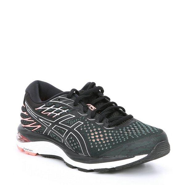 アシックス レディース スニーカー シューズ Women's GEL-Cumulus 21 Running Shoe Black/Sun Coral