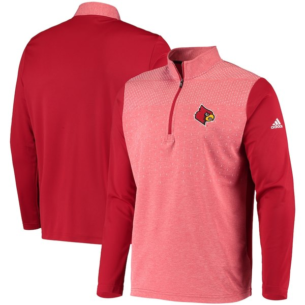アディダス メンズ ジャケット&ブルゾン アウター Louisville Cardinals adidas College UPF Quarter-Zip Pullover Jacket Red