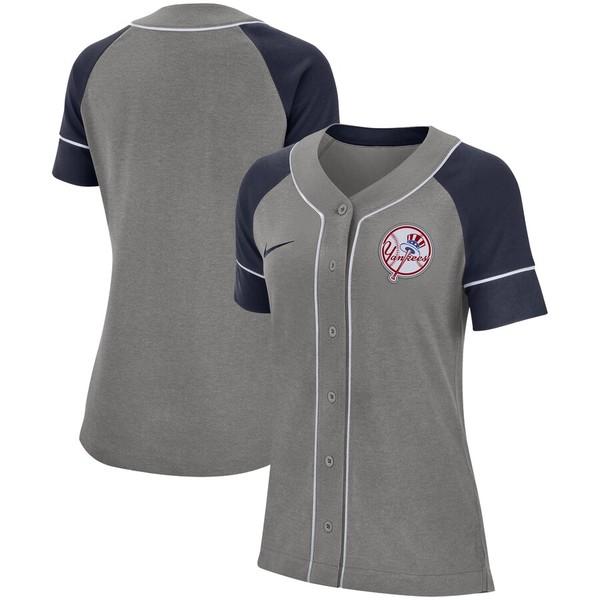 ナイキ レディース シャツ トップス New York Yankees Nike Women's Classic Baseball Jersey Gray