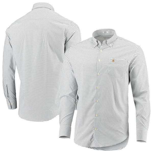 ピーター・ミラー メンズ シャツ トップス Florida State Seminoles Peter Millar Stretch Tattersall Woven Button-Down Shirt White/Black