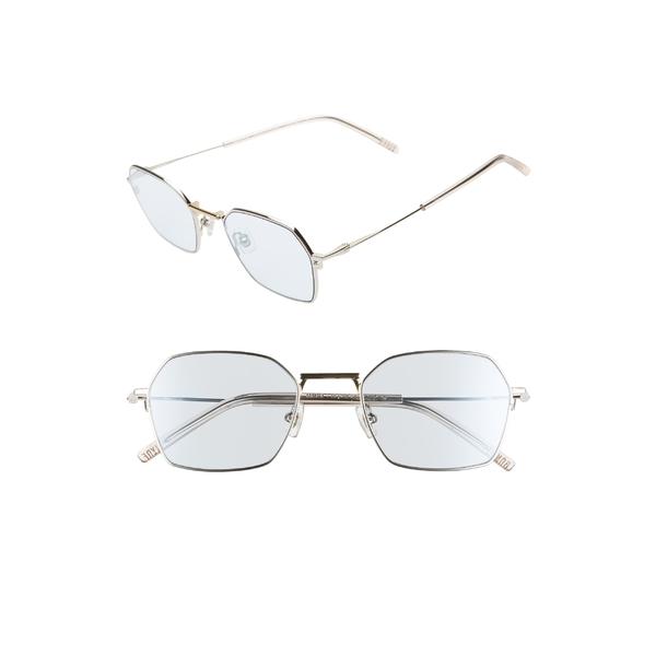 ボニークライド レディース サングラス&アイウェア アクセサリー Bonnie Clyde Tempo 51mm Square Sunglasses Silver/ Blue