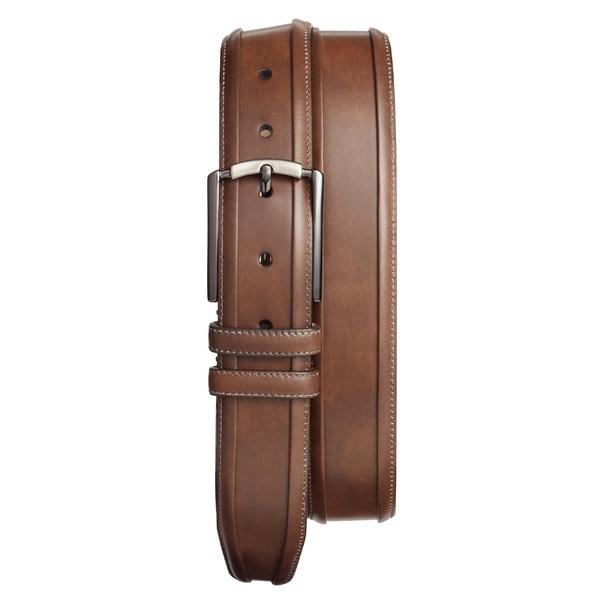 メズラン メンズ ベルト アクセサリー Mezlan Tequila Leather Belt Dark Brown