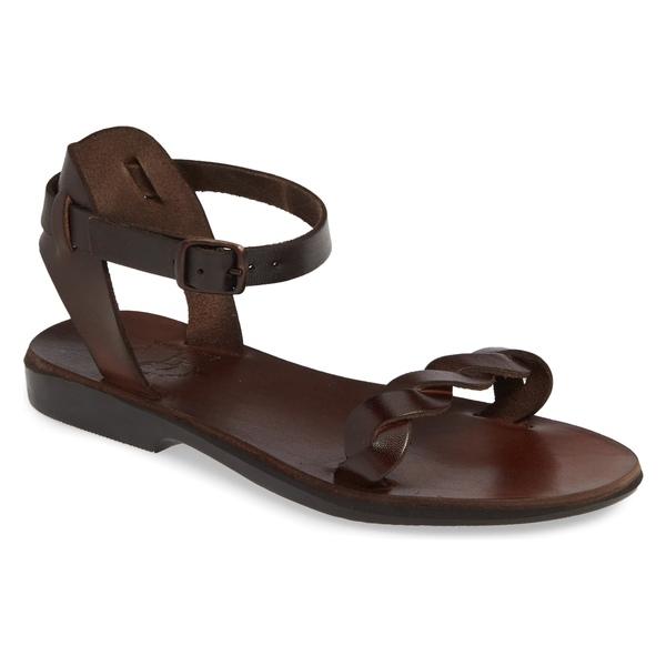 エルサレムサンダル レディース サンダル シューズ Jerusalem Sandals Arden Ankle Strap Sandal (Women) Brown Leather