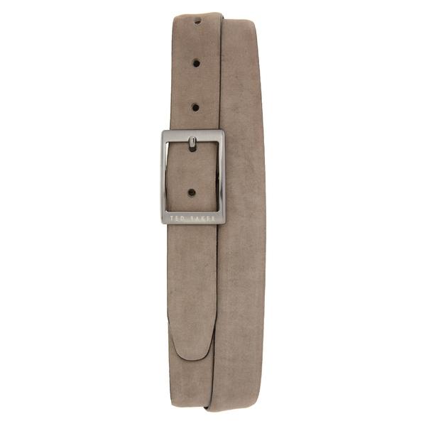 テッドベーカー メンズ ベルト アクセサリー Ted Baker London Nubuck Leather Belt Grey