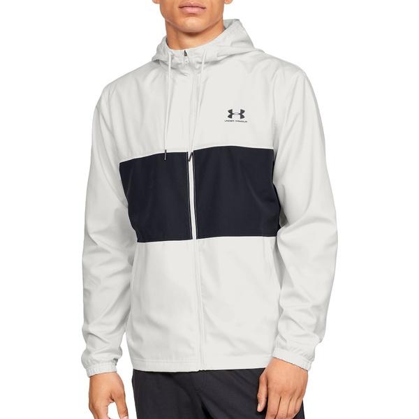 アンダーアーマー メンズ ジャケット&ブルゾン アウター Under Armour Men's Sportstyle Windbreaker Jacket (Regular and Big & Tall) OnyxWhite/Black