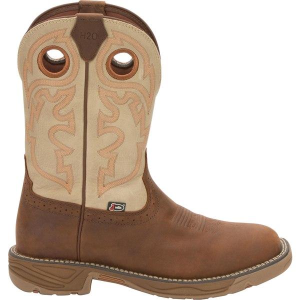 ジャスティンブーツ メンズ ブーツ&レインブーツ シューズ Justin Men's Stampede Rush Western Work Boots Rust
