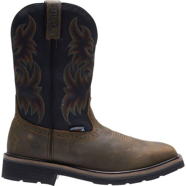 ウルヴァリン メンズ ブーツ&レインブーツ シューズ Wolverine Men's Rancher Wellington Waterproof Steel Toe Work Boots Black/Brown