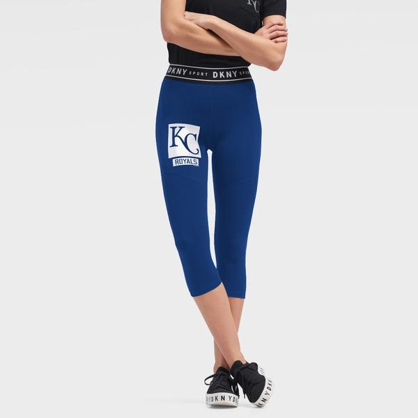 ダナキャラン レディース カジュアルパンツ ボトムス Kansas City Royals DKNY Sport Women's The Karan Capri Leggings Royal