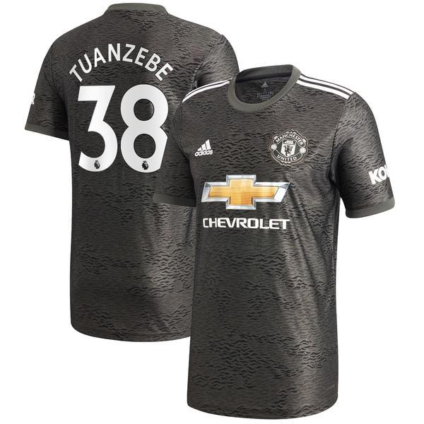アディダス メンズ ユニフォーム トップス Axel Tuanzebe Manchester United adidas 2020/21 Away Replica Player Jersey Green
