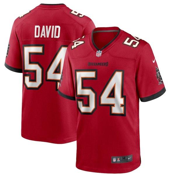 ナイキ メンズ シャツ トップス Lavonte David Tampa Bay Buccaneers Nike Player Game Jersey Red